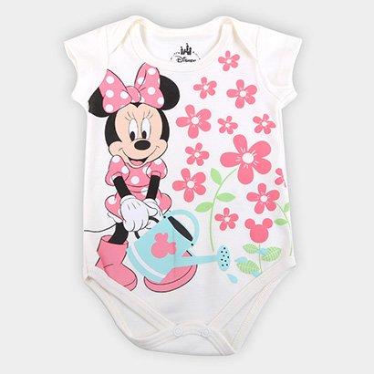 Body Infantil Marlan Suedine Disney Minnie Feminino