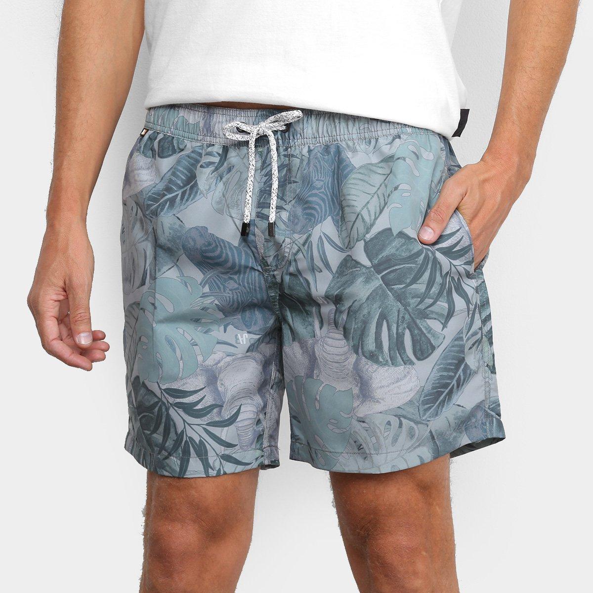 Shorts JAB Estampado Urban Tropical Masculino