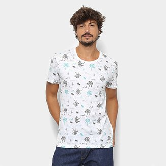 6f048912e7 Camiseta Kohmar Mini Print Coqueiros Masculina