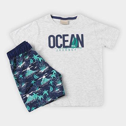Conjunto Infantil Milon Ocean Tropical Masculino