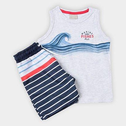 Conjunto Infantil Milon Regata Bermuda Masculina