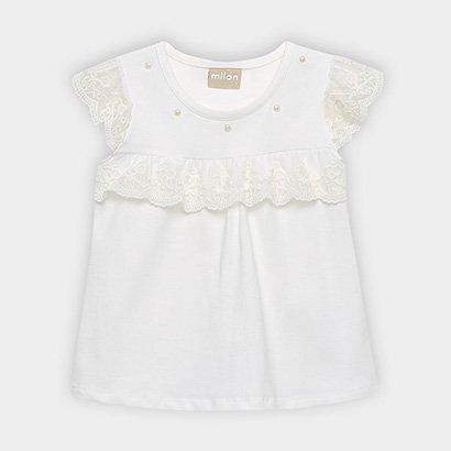 Blusa Infantil Milon Cotton Pérolas