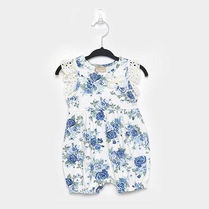 Macacão Bebê  Milon Floral Lese Feminino