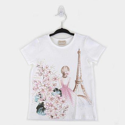 Blusa Infantil Milon Cotton Paris c/ Strass Feminina