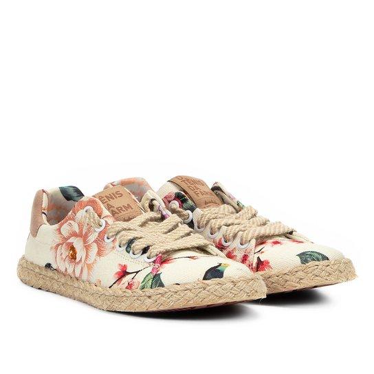 f53c74a0f8c8f9 Tênis Farm Trilha Juta Floral Paraíso Feminino - Compre Agora   Netshoes