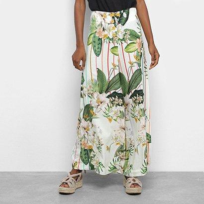 Calça Farm Pantalona Floralu Feminina