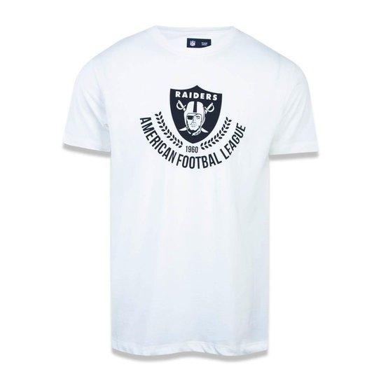 Camiseta Oakland Raiders NFL New Era Masculina - Off White - Compre ... 43656f03923
