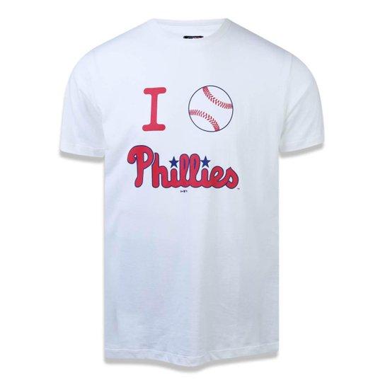 Camiseta Philadelphia Phillies MLB New Era Masculina - Off White ... 68711be9f9a