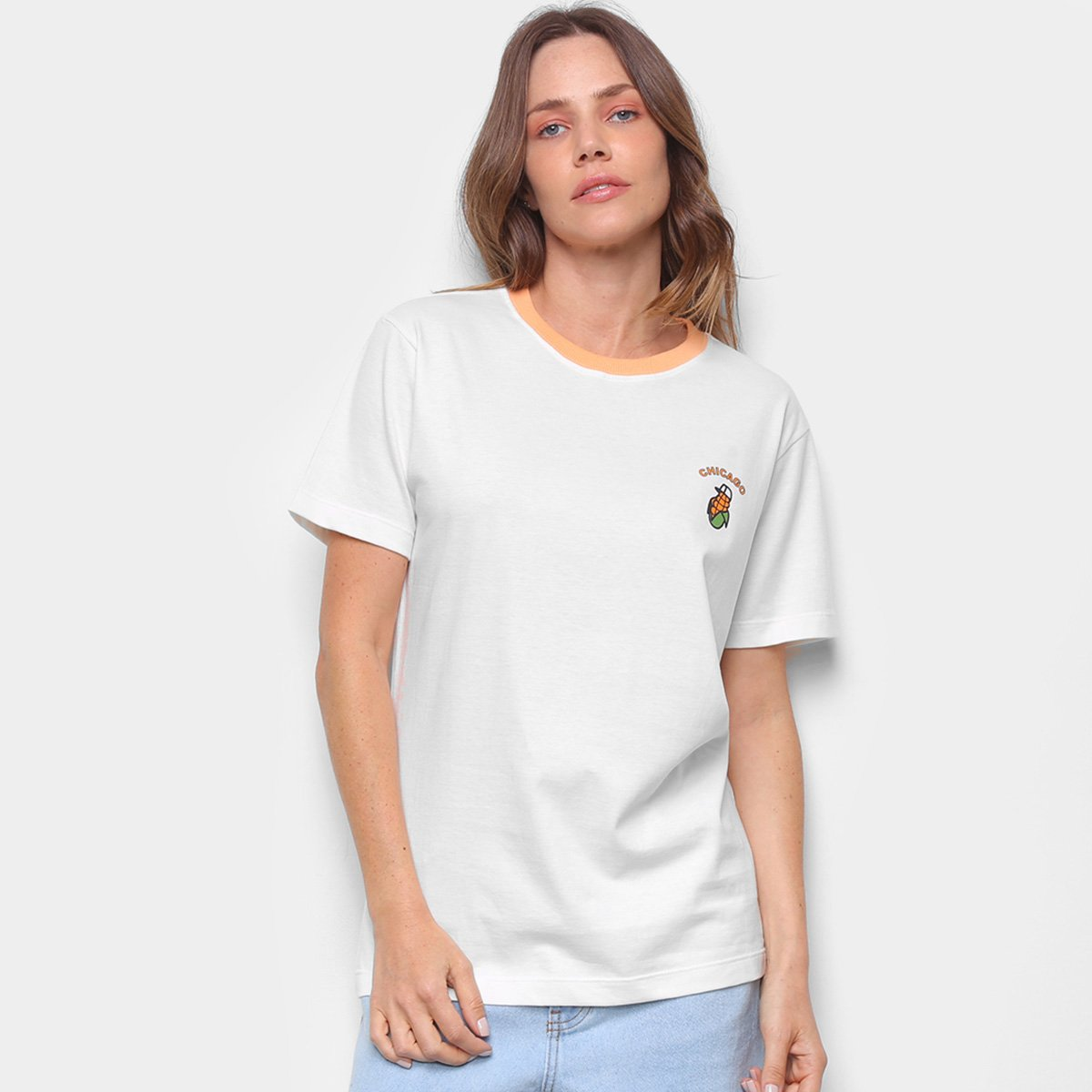 Camiseta New Era Fruit Corn Chicago Feminina