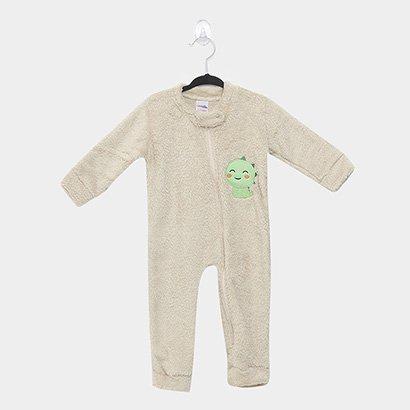 Macacão Pijama Bebê Candy Kids Baby Dino Sem Pé Masculino