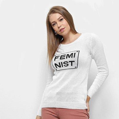 Suéter Fast Glam Feminist Feminino