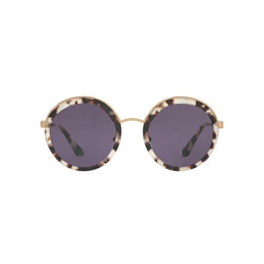 04a867217 Óculos de Sol Prada Redondo PR 50TS Feminino - Off White | Netshoes