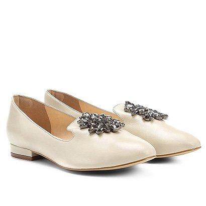 a9e4c05591 Mocassim Couro Shoestock Slipper Pedraria Feminino