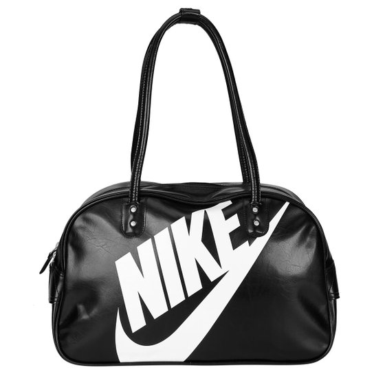 e5d481b87 Bolsa Nike Heritage SI Shoulder Club - Chumbo+Branco