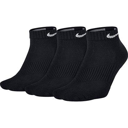 Meia Nike Cano Baixo Dri-Fit Pacote com 3 Pares
