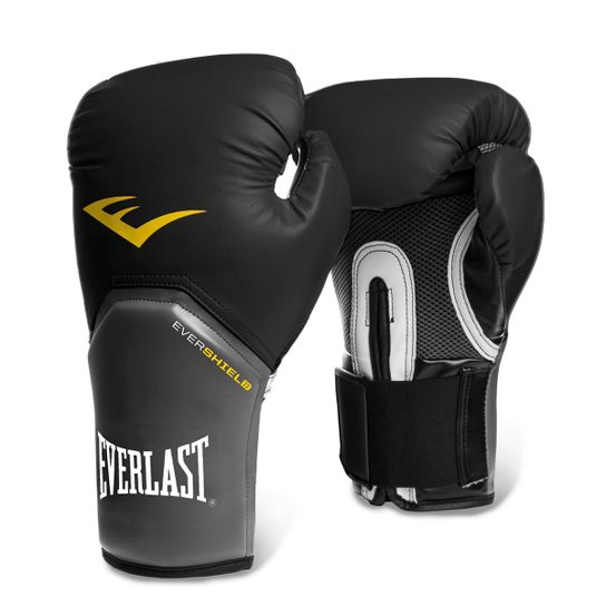 e1b8afefd Luva de Boxe Muay Thai Everlast Pro Style - 12 oz - Preto e Cinza ...