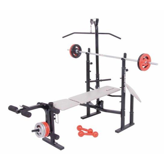 9f848e94703 Estação Musculação Banco Supino Sp-3300 Pro Polime - Preto - Compre ...