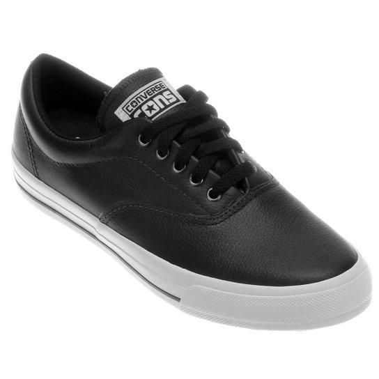 8ef10c5c402 Tênis Converse Skateboard Skidgrip Cvo Leather Ox - Preto - Compre ...