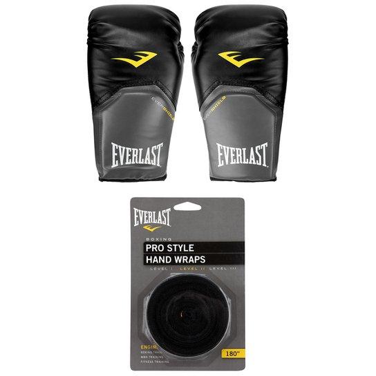 Kit Luva de Boxe Muay Thai Everlast Pro Style - 16 oz + Bandagem Elástica a7460f0faafe0