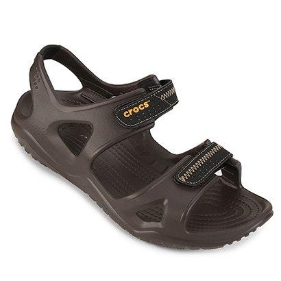 Sandália Crocs Swiftwater River Velcro Masculina