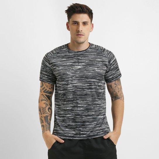 49f65499bfd82 Camiseta Speedo Sanding Masculina - Preto e Branco - Compre Agora ...