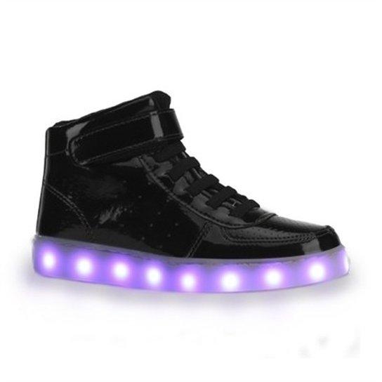 Tênis De LED Infantil Bibi Clique-se Colors Verniz - Compre Agora ... 89644290c8e05