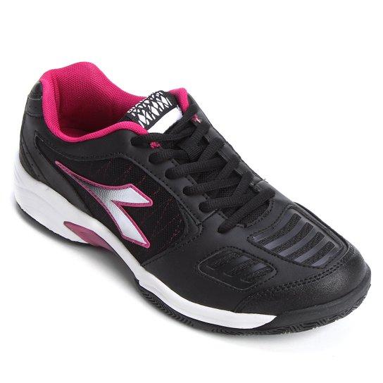 7899aba3f68 Tênis Diadora Hi Supreme 3 Feminino - Preto e Pink - Compre Agora ...