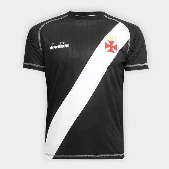 91078959a0 Camisa Vasco Transição I 2018 s nº Torcedor Diadora Masculina - Preto