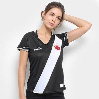 Camisa Vasco I 2018 s n° Torcedor Diadora Feminina 1bd1c60b9953e