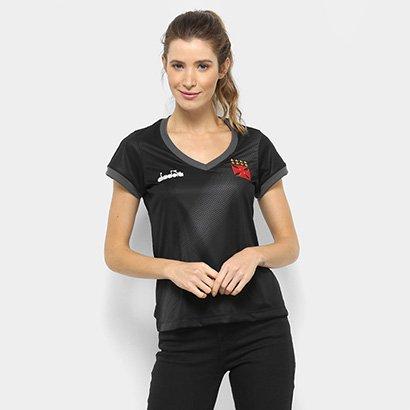 Camisa Vasco Aquecimento 2018 Diadora Feminina