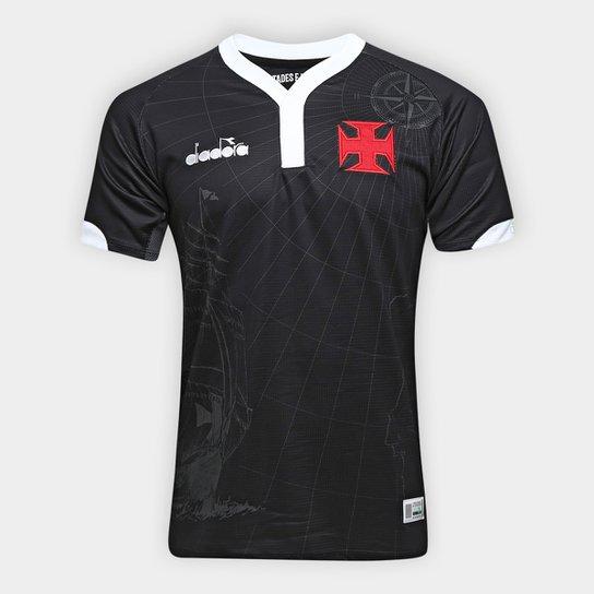 5072310f88 Camisa Vasco III 2018 s n° - Torcedor Diadora Masculina - Preto ...