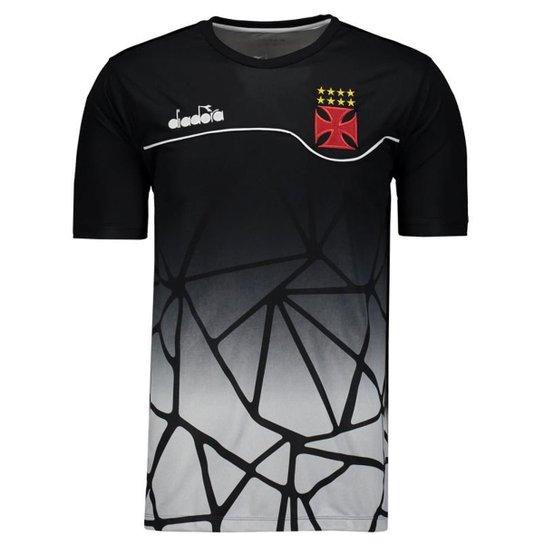 Camisa Diadora Vasco Concentração 2018 Masculina - Preto - Compre ... 2780c73b95875