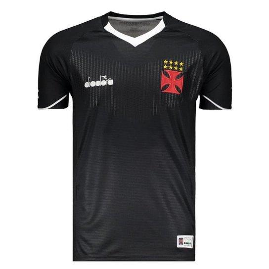 ace448c4d6 Camisa Diadora Vasco III Goleiro 2018 Masculina - Preto