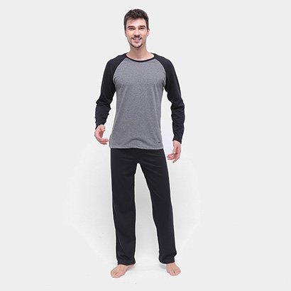 Pijama Longo Mash Raglan Masculino