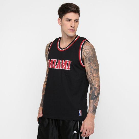 c06070f7ac Camiseta Regata Retrô NBA Miami - Preto
