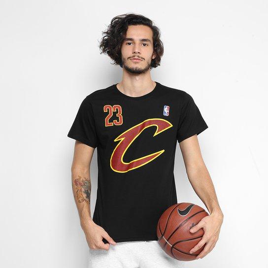 074d53e52 Camiseta NBA Cleveland Cavaliers - LeBron James 23 Masculina - Preto
