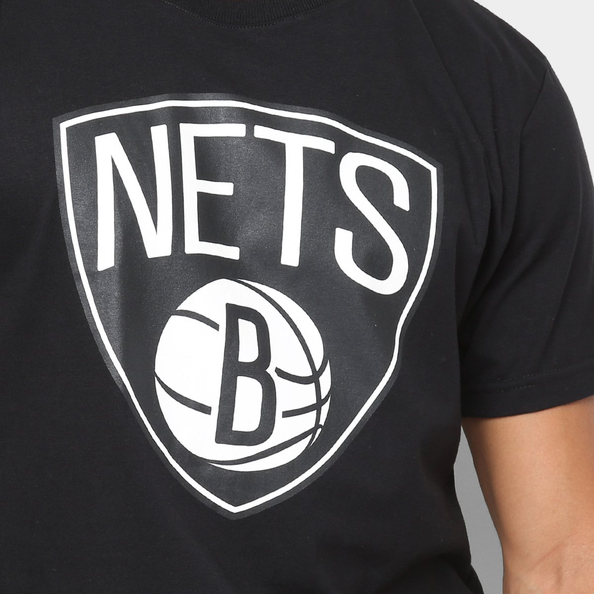 b4bbf92ca2 Camiseta NBA Brooklyn Nets Big Logo Masculina - Tam: GG - Shopping ...