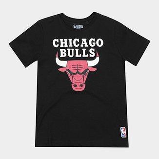 Camiseta NBA Infantil Chicago Bulls Big Logo 0fba419905e