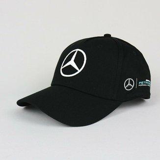 Boné Mercedes Benz Lewis Hamilton F1 Unissex ad4ae35f529