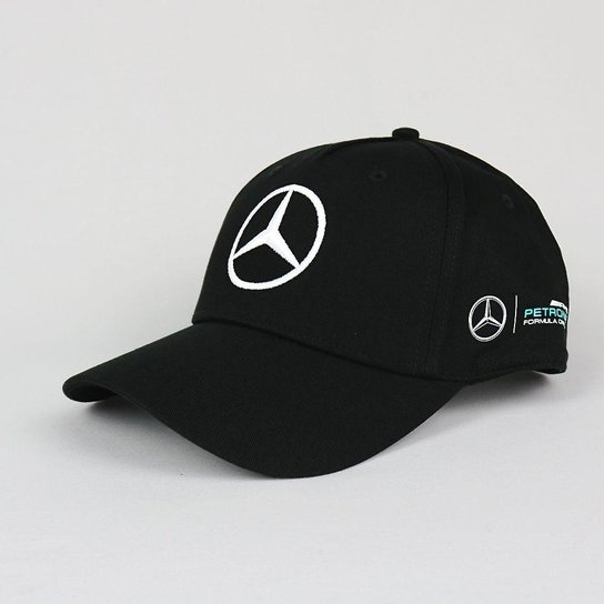 Boné Mercedes Benz Lewis Hamilton F1 Unissex - Preto - Compre Agora ... 695fd34d3dfd6