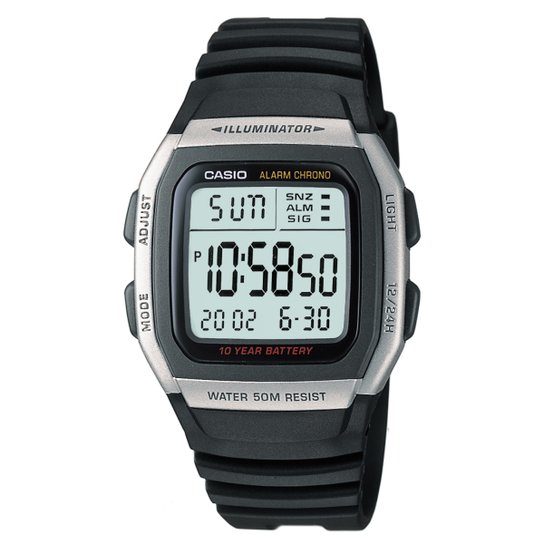 38d9fb65180 Relógio Casio W-96H-1A - Preto - Compre Agora