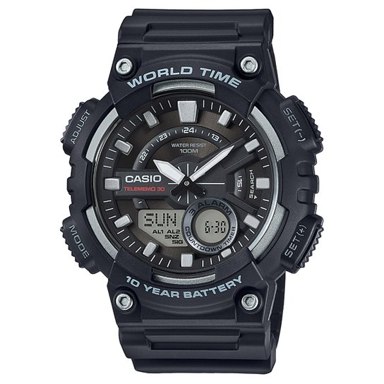 9ef8ae9fc83 Relógio Casio Ana-Digi AEQ-110W - Compre Agora