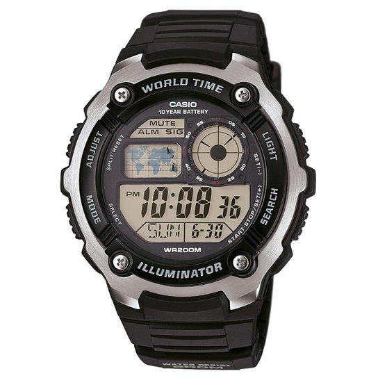 dc6cbe272e7 Relógio Casio Digital AE-2100W - Preto - Compre Agora