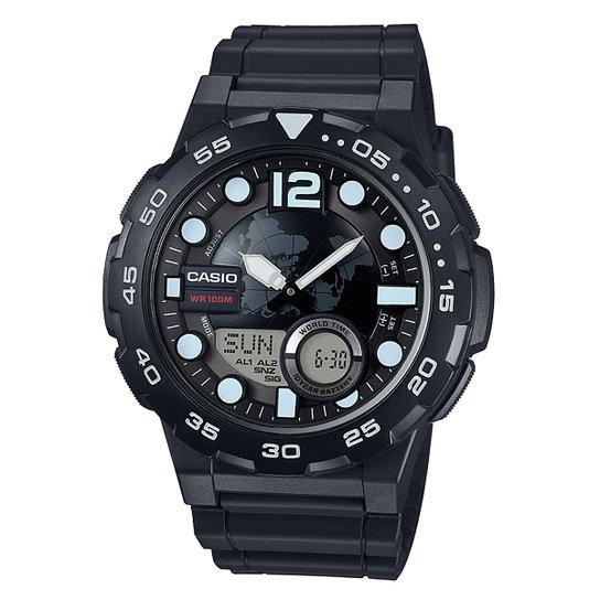 a80da2f1e9a Relógio Casio Ana-Digi AEQ-100W - Preto - Compre Agora