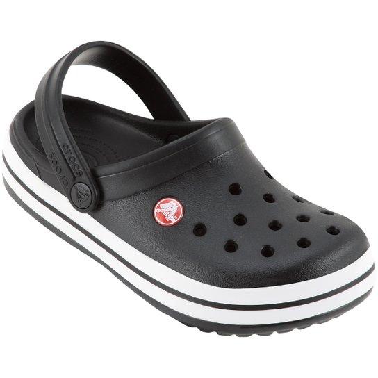 dd13063d646 Sandália Infantil Crocs Crocband - Preto e Branco - Compre Agora ...