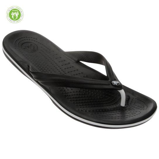 a8289e959 Chinelo Crocs Crocband Flip - Preto e Branco | Netshoes