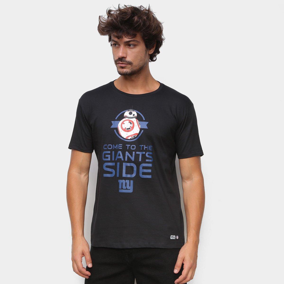 Camiseta NFL New York Giants Side Star Wars Masculina