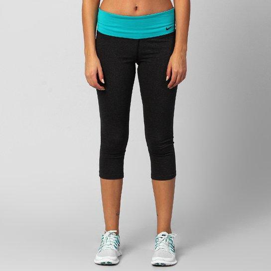 Calça 3 4 Nike Legend DFC 2.0 - Preto+Verde Água 35c446ff129f2