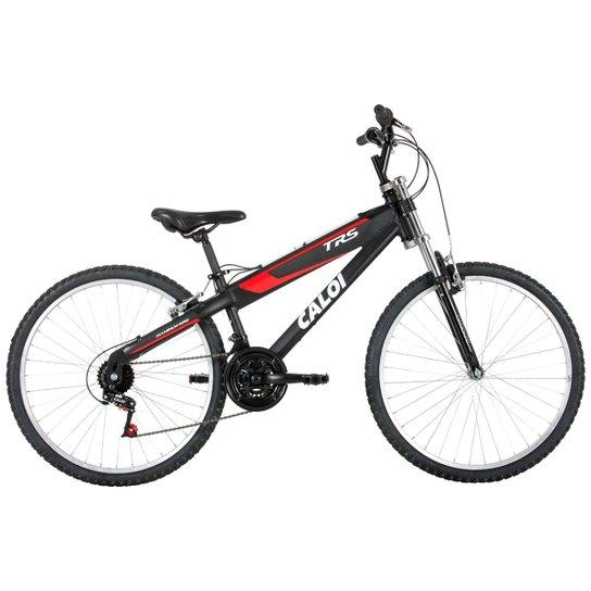 e8275a27d Bicicleta Caloi Trs - Aro 26 - 21 Marchas - Suspensão Dianteira - Preto