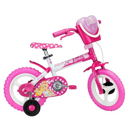 b79c87833 Bicicleta Caloi Barbie Infantil - Aro 12 - Pink+Branco